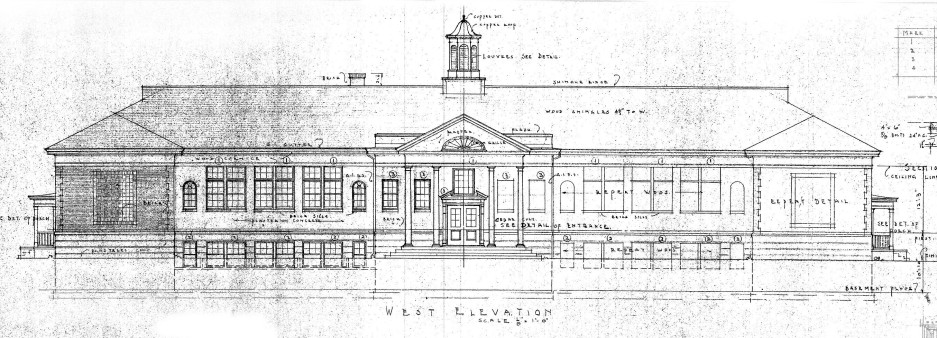 Old School Front Elevation
